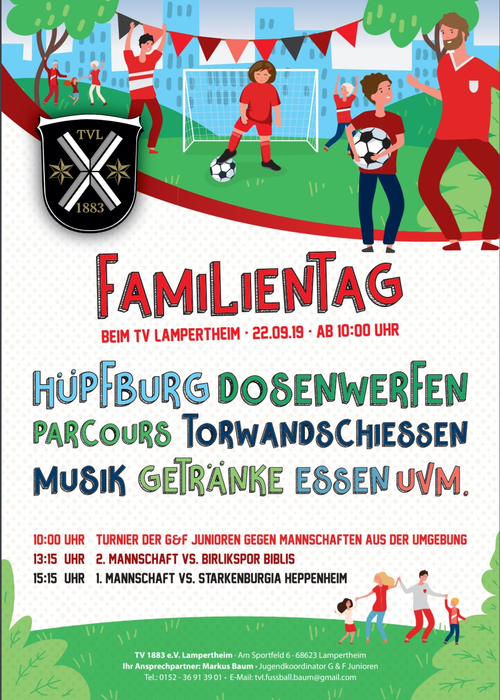 Familientag Tv Lampertheim Hupfburg Torwandschiessen Uvm